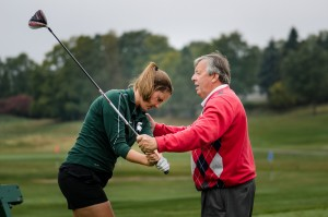 Christine Meier with Trevor Parkinson